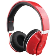 Supersonic Iq-129bt-r Over-ear Bluetooth Headphones With Microphone (red)