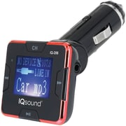 "Supersonic Iq-206 Red Wireless Fm Transmitter With 1.4"" Display (red)"