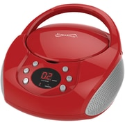 Supersonic Sc-515bt-red Bluetooth Portable Audio System With Cd Player (red)