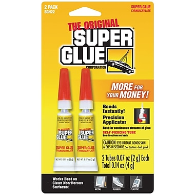 Super Glue Sgh22-12 Super Glue Tubes, 2 Pk
