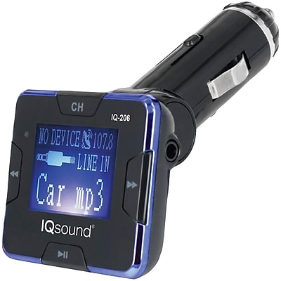 Supersonic Iq-206 Blue Wireless FM Transmitter With 1.4