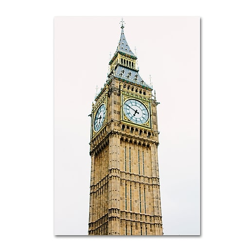 "Trademark Fine Art Ariane Moshayedi 'Big Ben 2' 12"" x 19"" Canvas Stretched (190836263448)"