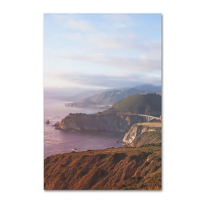 Trademark Fine Art Ariane Moshayedi 'Big Sur Coast Sunset' 12