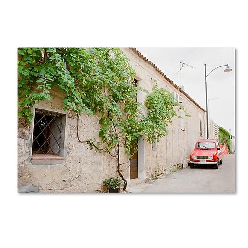 "Trademark Fine Art Ariane Moshayedi 'Red Car' 12"" x 19"" Canvas Stretched (190836274086)"