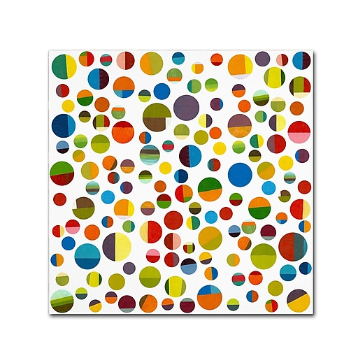 "Trademark Fine Art Michelle Calkins 'Found My Marbles 3.0' 18"" x 18"" Canvas Stretched (190836072637)"