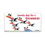 "Trademark Fine Art Guinness Brewery 'Lovely Day For A Guinness IX' 12"" x 24"" Wall Art (190836244560)"