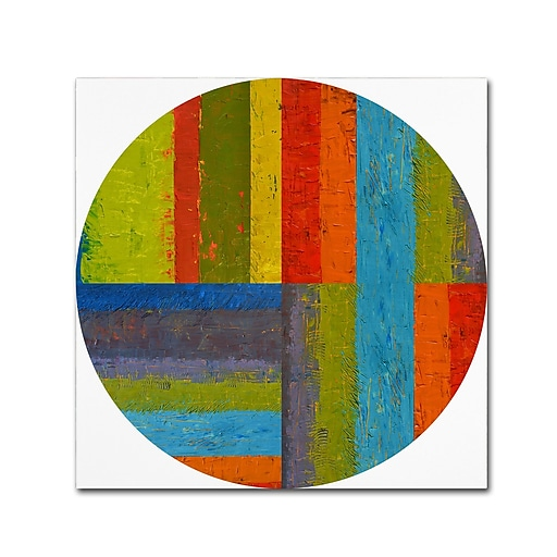 """Trademark Fine Art Michelle Calkins 'Round' 18"""" x 18"""" Canvas Stretched (190836076314)"""