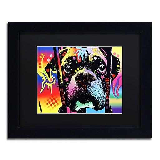 "Trademark Fine Art Dean Russo 'Choose Adoption Boxer' 11"" x 14"" Matted Framed (190836152582)"