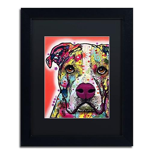"Trademark Fine Art Dean Russo 'American Bulldog' 11"" x 14"" Matted Framed (190836154685)"