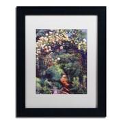 "Trademark Fine Art David Lloyd Glover 'Rose Arbor Pathway' 11"" x 14"" Matted Framed (190836227501)"