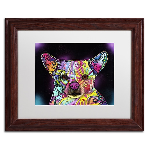 """Trademark Fine Art Dean Russo 'Cheemix' 11"""" x 14"""" Matted Framed (190836152254)"""