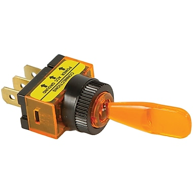 Battery Doctor 20502 On/off Illuminated 20-amp Toggle Switch (amber)