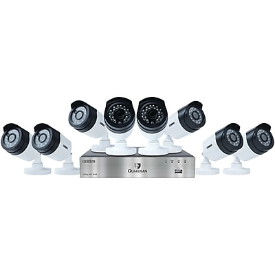 Uniden G6880d2 Guardian 1080p 2tb DVR with Outdoor Bullet Cameras (8-channel, 8 Cameras)