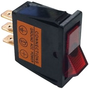 Battery Doctor 20532 On/off Red Illuminated 20-amp Rocker For 12mm X 30mm Slot