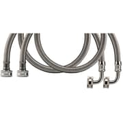 Certified Appliance Wm60ssl2pk Braided Stainless Steel Washing Machine Hoses With Elbow, 2 Pk (5ft)