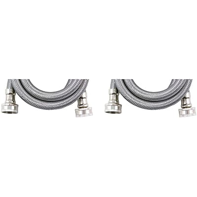 Certified Appliance Wm48ss2pk Braided Stainless Steel Washing Machine Hoses, 2 Pk (4ft)