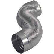 """Deflecto Am42 Semi-rigid Flexible Aluminum Duct (4"""" Dia X 2ft)"""