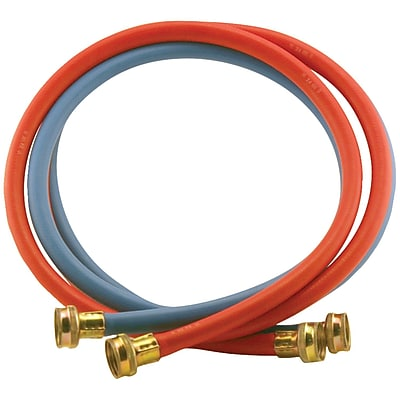 Certified Appliance Wm72rbr2pk Red/blue Edpm Rubber Washing Machine Hoses, 2 Pk (6ft)