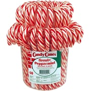 Spangler® Peppermint Candy Canes, 60 Piece per Jar (211-X0012)