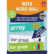 Carson-Dellosa Learning Cards Math Word Wall, Grade 2, 60 Cards/Set (145113)
