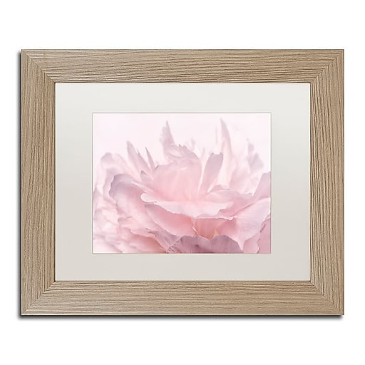 "Trademark Fine Art Cora Niele 'Pink Peony Petals III' 11"" x 14"" Matted Framed (190836307647)"