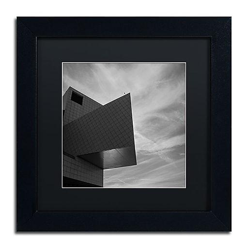 "Trademark Fine Art Kurt Shaffer 'Rock and Roll Hall of Fame Abstract' 11"" x 11"" Matted Framed (886511965669)"