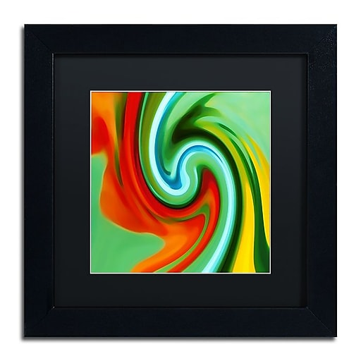 "Trademark Fine Art Amy Vangsgard 'Abstract Flower Unfurling Square 2' 11"" x 11"" Matted Framed (886511933415)"