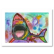 """Trademark Fine Art Dean Russo 'Shark 1' 18"""" x 24"""" Paper Rolled (190836145522)"""