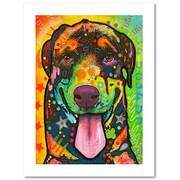 """Trademark Fine Art Dean Russo 'Rottie Pup' 18"""" x 24"""" Paper Rolled (190836137275)"""