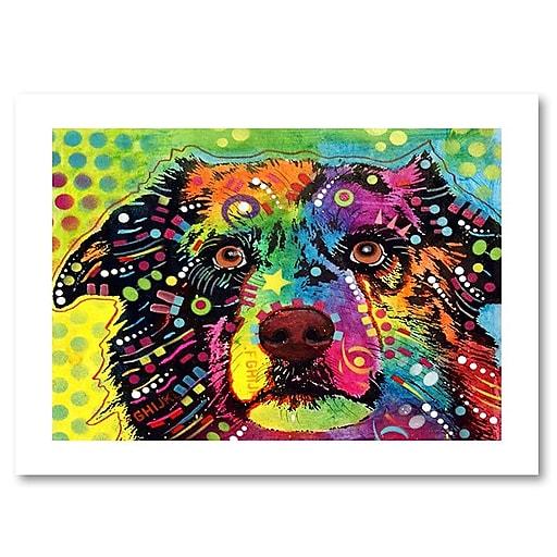 """Trademark Fine Art Dean Russo 'Straight Aussie' 18"""" x 24"""" Paper Rolled (190836158577)"""