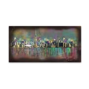 "Trademark Fine Art Ellicia Amando 'Toronto' 12"" x 24"" Canvas Stretched (190836278794)"