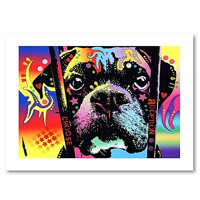 "Trademark Fine Art Dean Russo 'Choose Adoption Boxer' 18"" x 24"" Paper Rolled (190836152575)"
