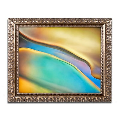 Trademark Fine Art Cora Niele 'Yellow and Aqua Blue Flow'd Art 11