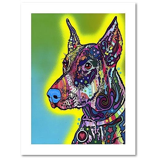 """Trademark Fine Art Dean Russo 'Doberman' 18"""" x 24"""" Paper Rolled (190836155729)"""
