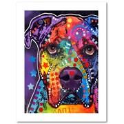 "Trademark Fine Art Dean Russo 'American Bulldog 121609' 18"" x 24"" Paper Rolled (190836165629)"