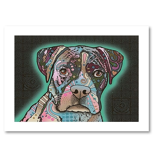 "Trademark Fine Art Dean Russo 'Love Thy Boxer' 18"" x 24"" Paper Rolled (190836148677)"