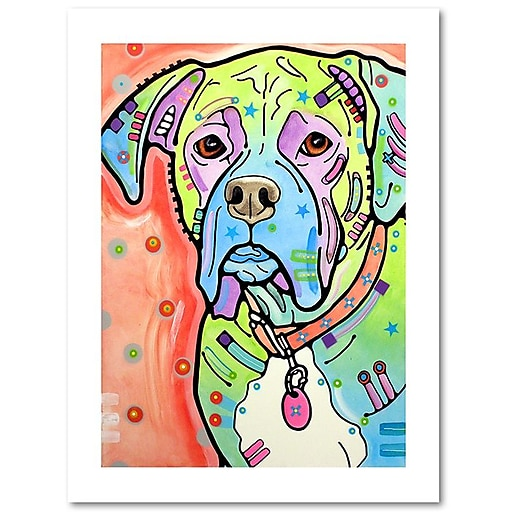 """Trademark Fine Art Dean Russo 'The Boxer' 18"""" x 24"""" Paper Rolled (190836158720)"""