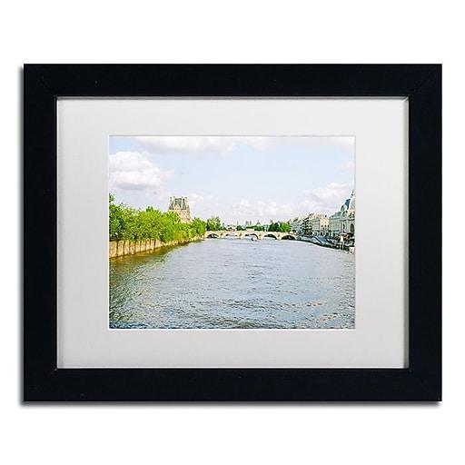 """Trademark Fine Art Ariane Moshayedi 'Paris Seine' 11"""" x 14"""" Matted Framed (190836272945)"""