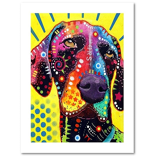 "Trademark Fine Art Dean Russo 'German Short Hair Pointer' 18"" x 24"" Paper Rolled (190836153329)"
