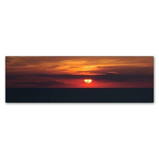 "Trademark Fine Art Kurt Shaffer 'Classic Great Lake Sunset' 6"" x 19"" Canvas Stretched (190836003259)"