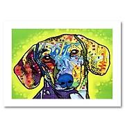 """Trademark Fine Art Dean Russo 'Dachshund' 18"""" x 24"""" Paper Rolled (190836147175)"""