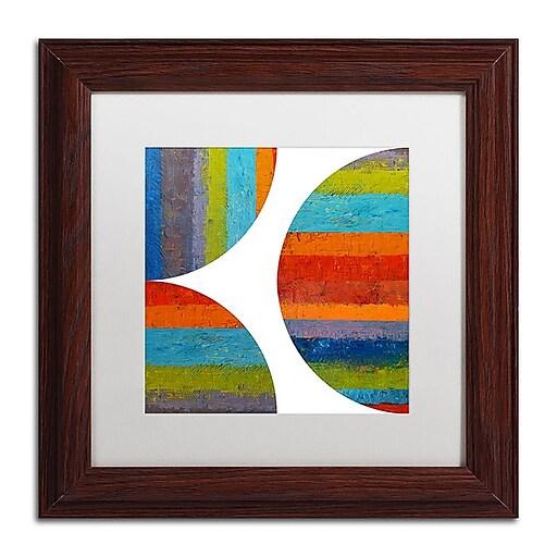"Trademark Fine Art Michelle Calkins 'Quarter Rounds 1.0' 11"" x 11"" Matted Framed (190836074006)"