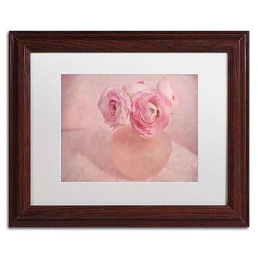 """Trademark Fine Art Cora Niele 'Pink Ranunculus Bouquet' 11"""" x 14"""" Matted Framed (190836260041)"""