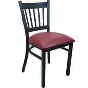 Advantage Vertical Slat Back Restaurant Chair - Burgundy Padded (RCVB-BFRV-2)