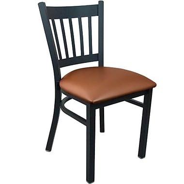Advantage Vertical Slat Back Restaurant Chair - Mocha Padded (RCVB-BFMV-2)