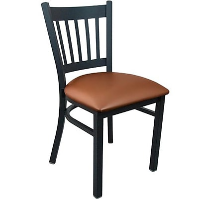 Advantage Vertical Slat Back Restaurant Chair - Mocha Padded (RCVB-BFMV-2)
