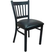 Advantage Vertical Slat Back Restaurant Chair - Black Padded (RCVB-BFBV-2)