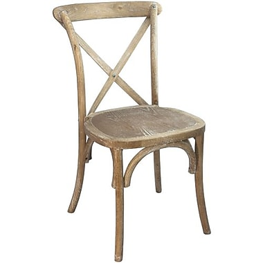 Advantage Natural with White Grain X-back Chairs (X-BACK-NWG-EC-2)