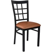 Advantage Window Pane Back Restaurant Chair - Mocha Padded (RCWPB-BFMV-2)