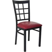 Advantage Window Pane Back Restaurant Chair - Burgundy Padded (RCWPB-BFRV-2)